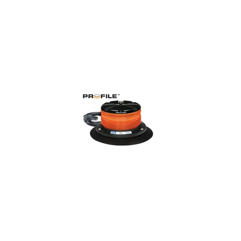 7460A-VM Vacuum Magnet Profile Amber Beacon