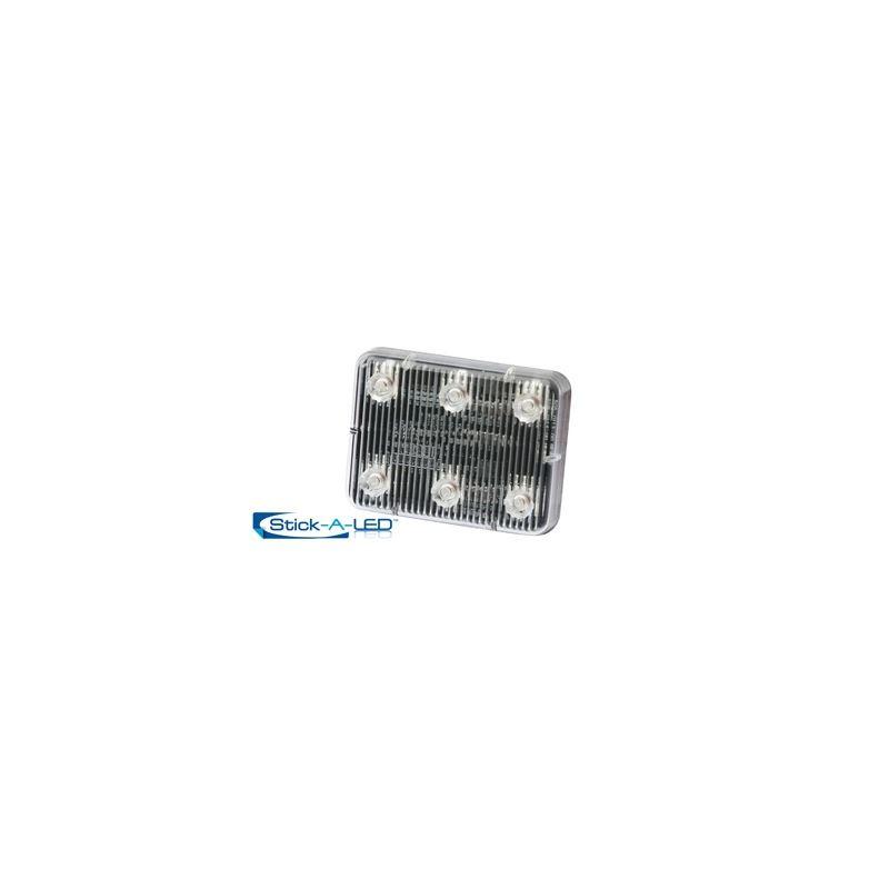 ED0004C Clear 6-LED Stick-A-LED Surface Mount